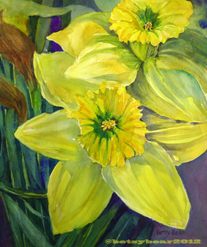 Daffodils watercolor