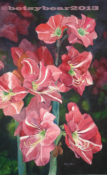 Amaryllis watercolor