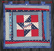 patriotic quilted hanging
